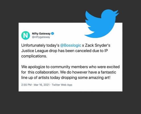 Boss Logic Tweet - Zack Snyder NFT Cancelled